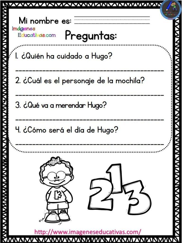 Lecturas comprensivas mi primer día de clase (5) - Imagenes Educativas