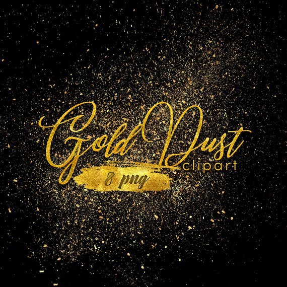 8 Gold Dust Clipart Dust Overlay Png Files Gold Glitter Etsy Clip Art Overlays Pixie Dust
