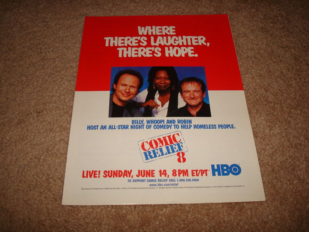 COMIC RELIEF 8 HBO 1998 ad