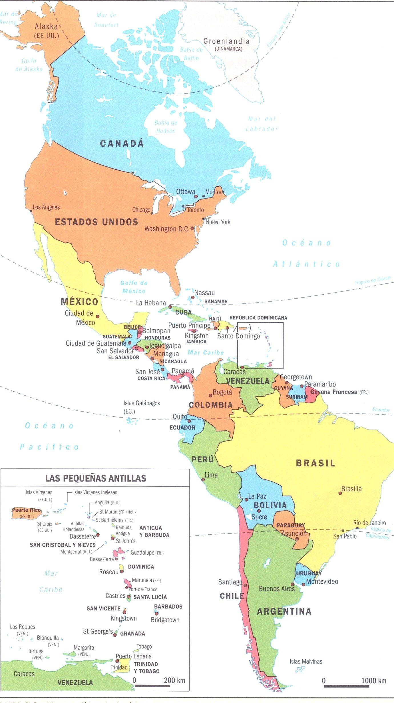 Resultado De Imagen Para Mapa America Mapa De America Mapa De Espana Mapas