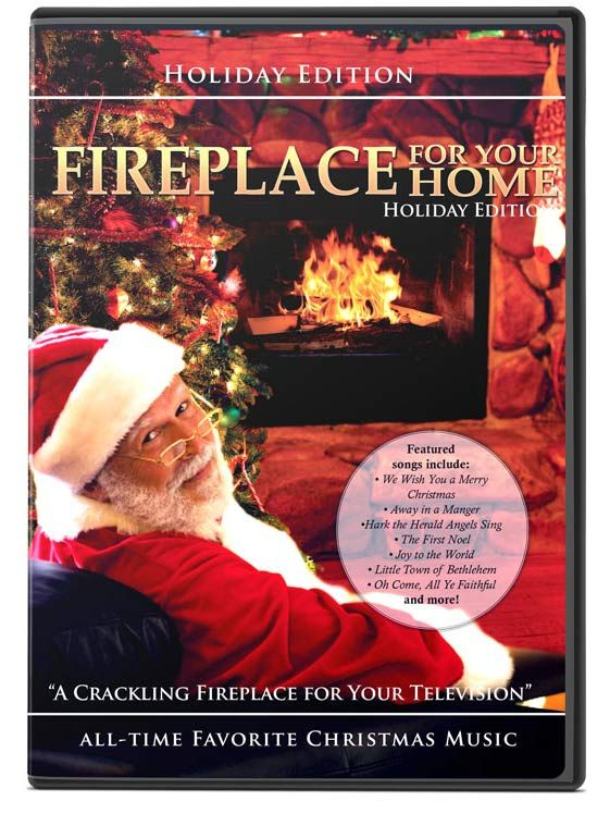 Holiday Fireplace Dvd Yule Log Screensaver Dvd Warm Up And