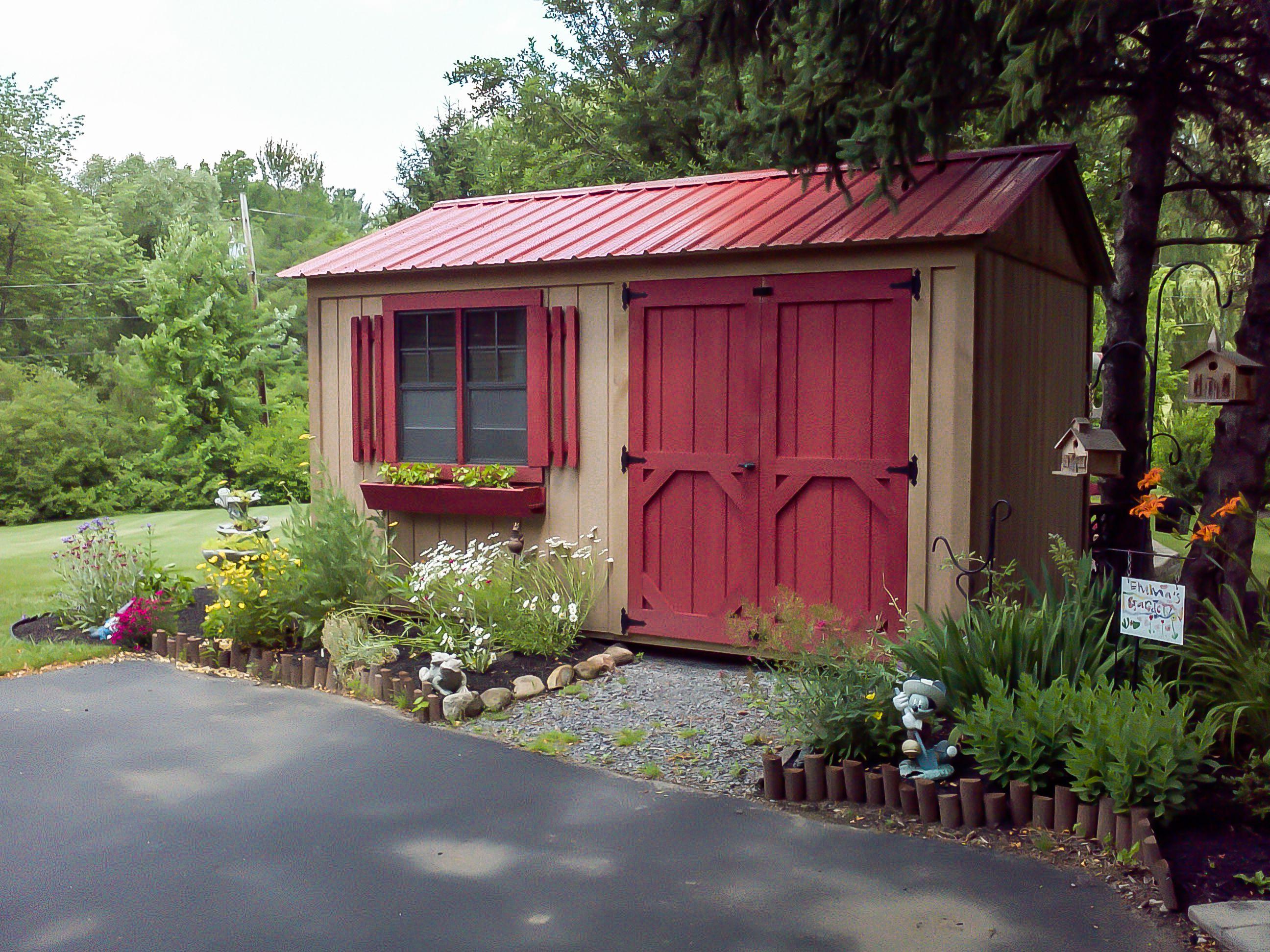 Garden Shed Backyard Sheds Outdoor Sheds Shed Landscaping