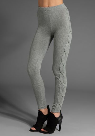 Spring Clifton Alberta Cable Knit Sweater Legging In Grey Diamond