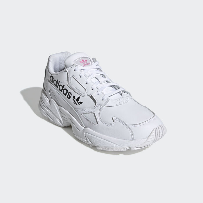 Falcon Shoes White Womens in 2020 | Shoes, Black shoes, Adidas