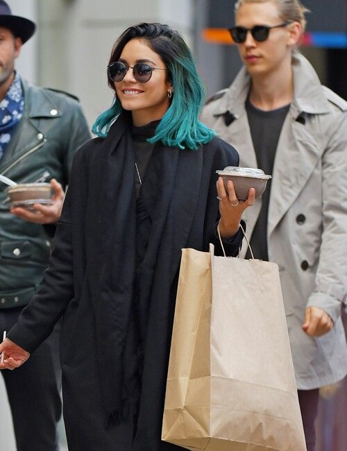 Vanessa's black and green hair