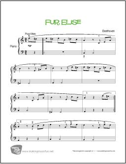 fur elise piano sheet music easy pdf