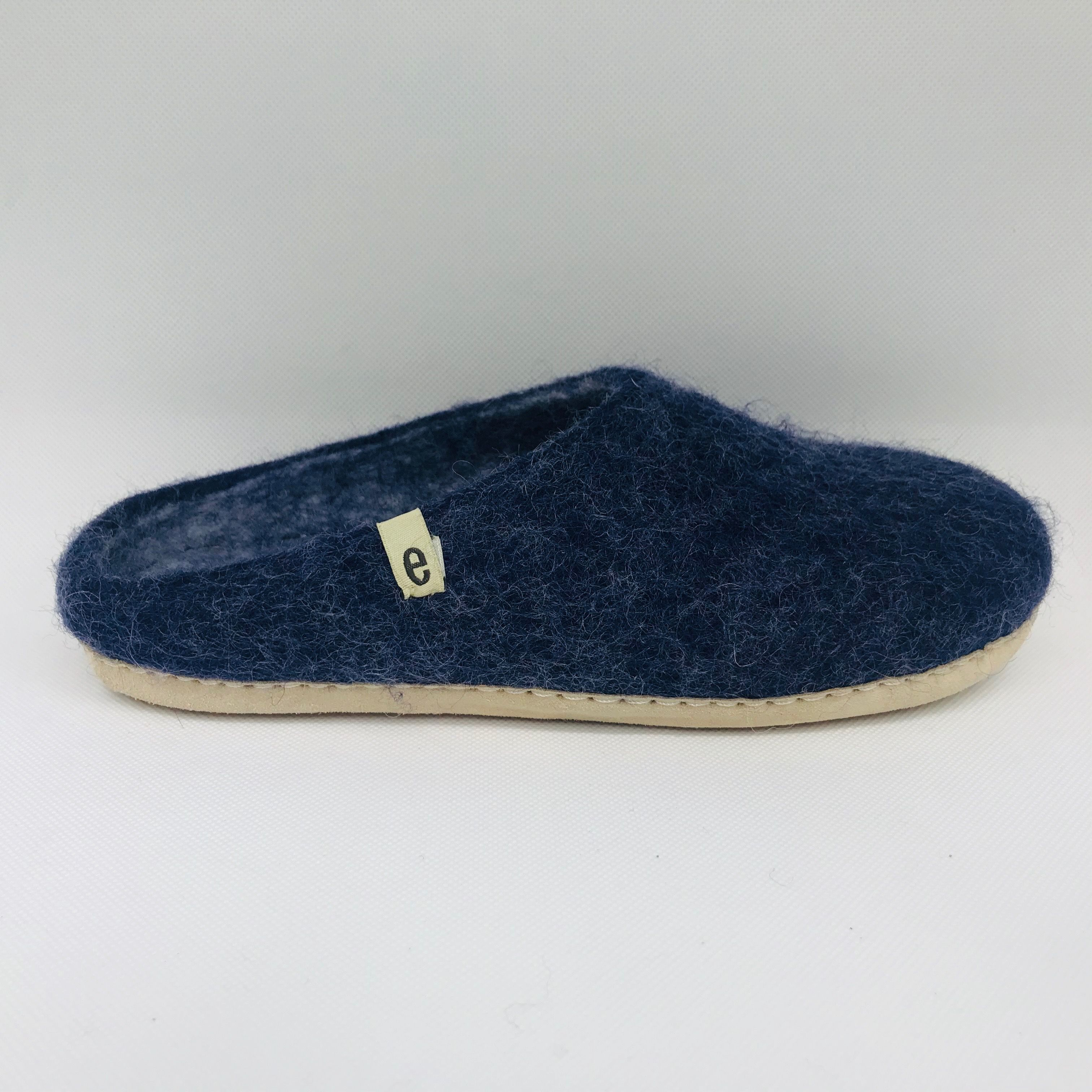 Photo of egos Egos Hand-Made, Fair Trade Felted Wool Slippers, Navy – Trouva