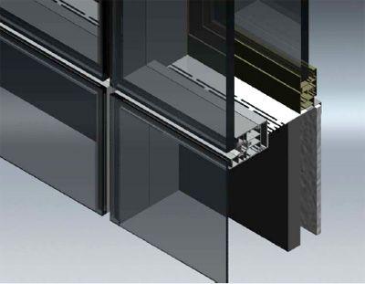 Detalle de vidrio estructural en fachadas vidrios - Cerramientos de fachadas ...