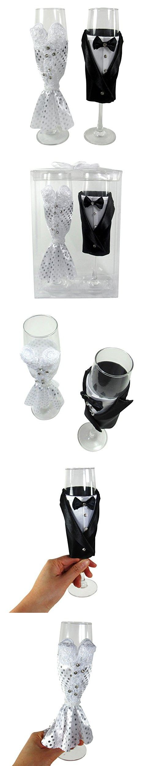 Bride and Groom Wedding Champagne Flute Glasses, Wedding Gift Glass ...