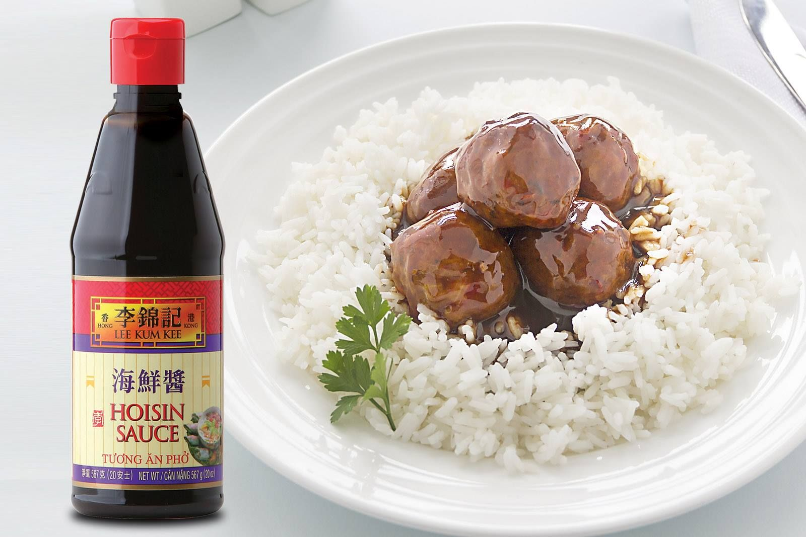 Switch things up by cooking meatballs with Hoisin Sauce! Put over rice and you have a flavorful meal!