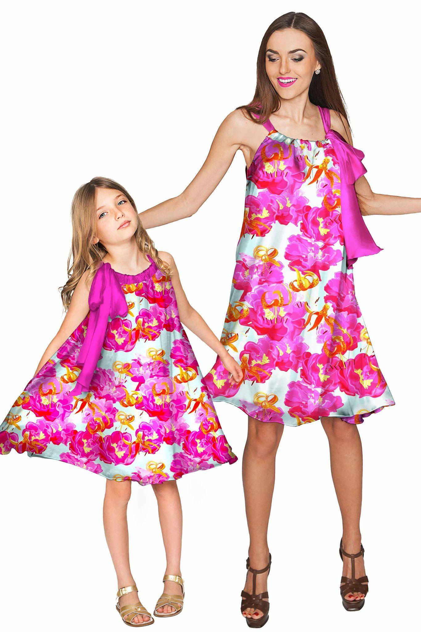 da044318f6b0 Sweet Illusion Melody Swing Chiffon Mother and Daughter Dress ...