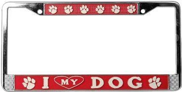 i heart my dog license plate frame - Dog License Plate Frames