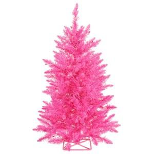 2' Pre-Lit Sparkling Pink Artificial Christmas Tree - Pink Lights