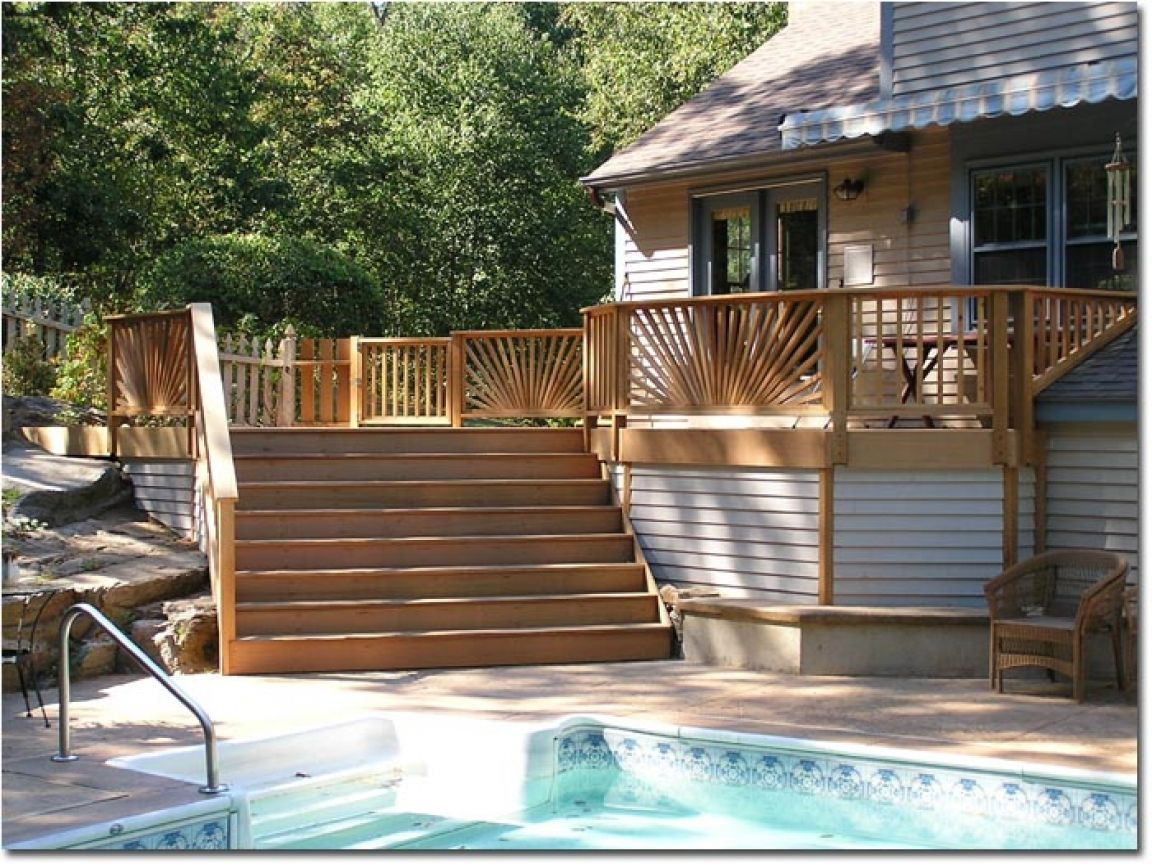 35 best ground level deck images on pinterest backyard ideas