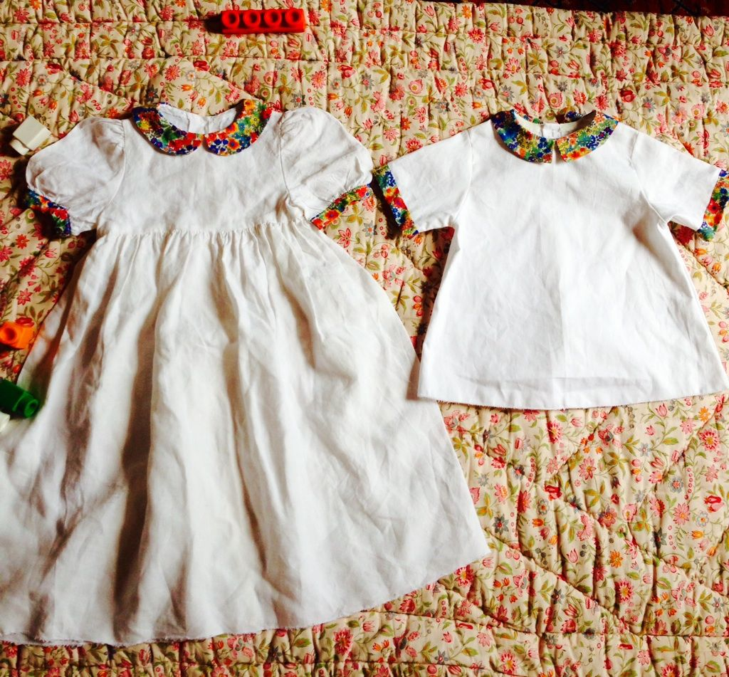 mariage enfants robe chemise blanc liberty. Black Bedroom Furniture Sets. Home Design Ideas