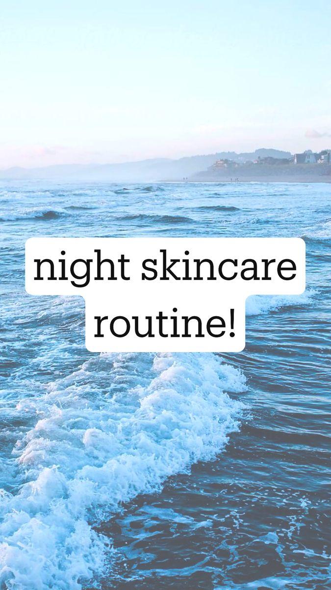 skincare routine!