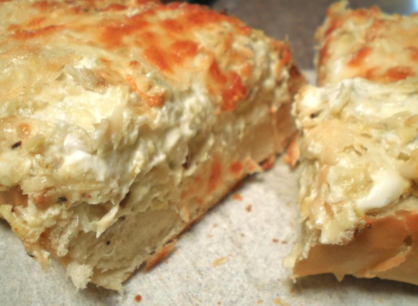 Artichoke & Crab Dip Bread