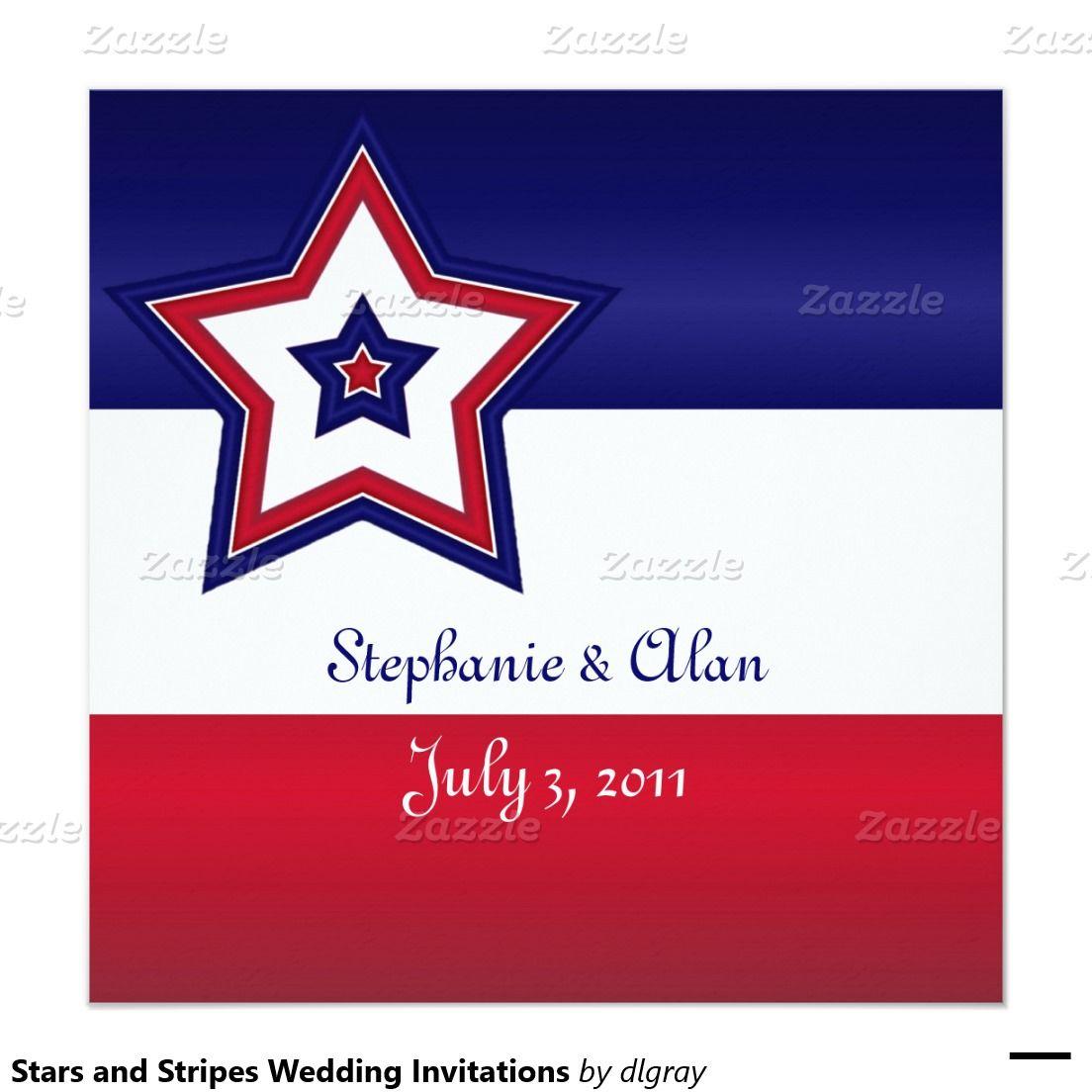 Stars and Stripes Wedding Invitations | Wedding Invitation Ideas ...