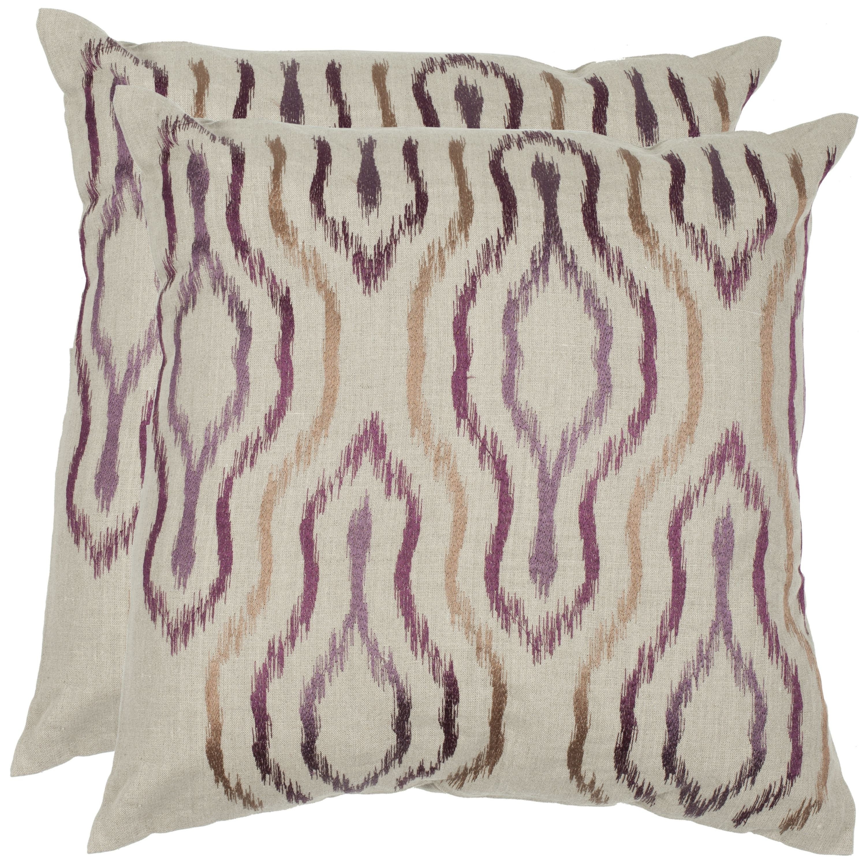 Light and airy, the Quinn accent pillow is brimming with global style.