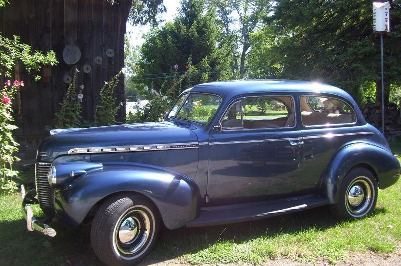 1940 Chevy Special Deluxe 2 Door Coach Street Rod All Original Body In Blue Chevy Vehicles Classic Cars Chevrolet