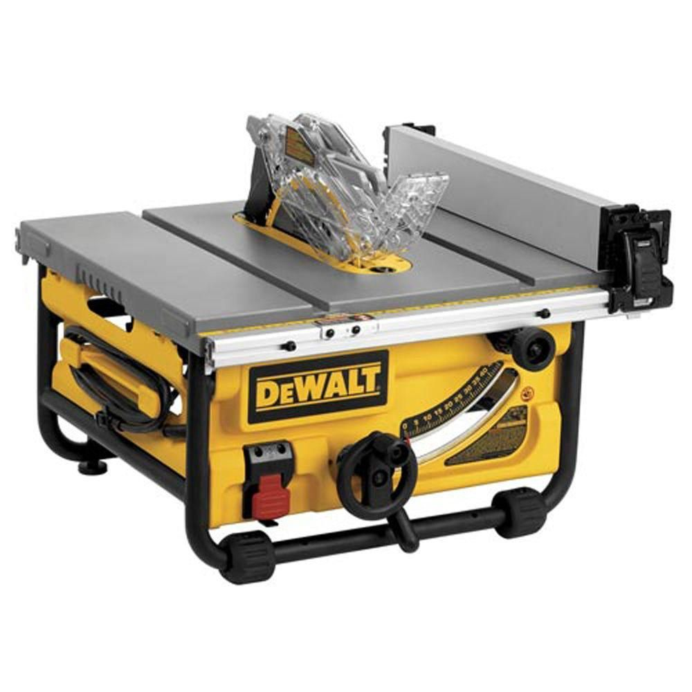 Dewalt 15 Amp 10 In Compact Job Site Table Saw With Site Pro Modular Guarding System Dwe7480 Jobsite Table Saw Portable Table Saw Table Saw