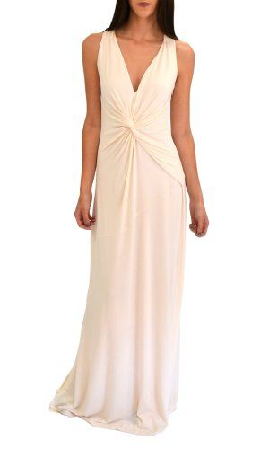 53cc55ffb2c03 Halston Heritage Women s Twist Front Gown  255  casual  beach  wedding