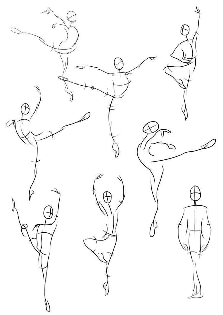 Gesture Drawings Ballet Dancers By Mulberrypromenade On