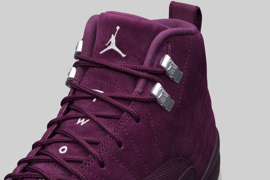 c6eca484936 The Air Jordan 12 gets the Bordeaux treatment with this upcoming colorway  (style code 130690-617)