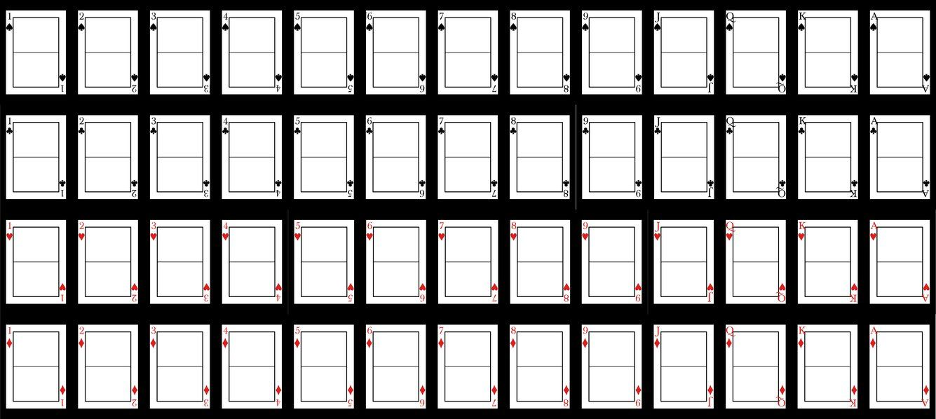 Blank Playing Card Template Blank Playing Cards Printable