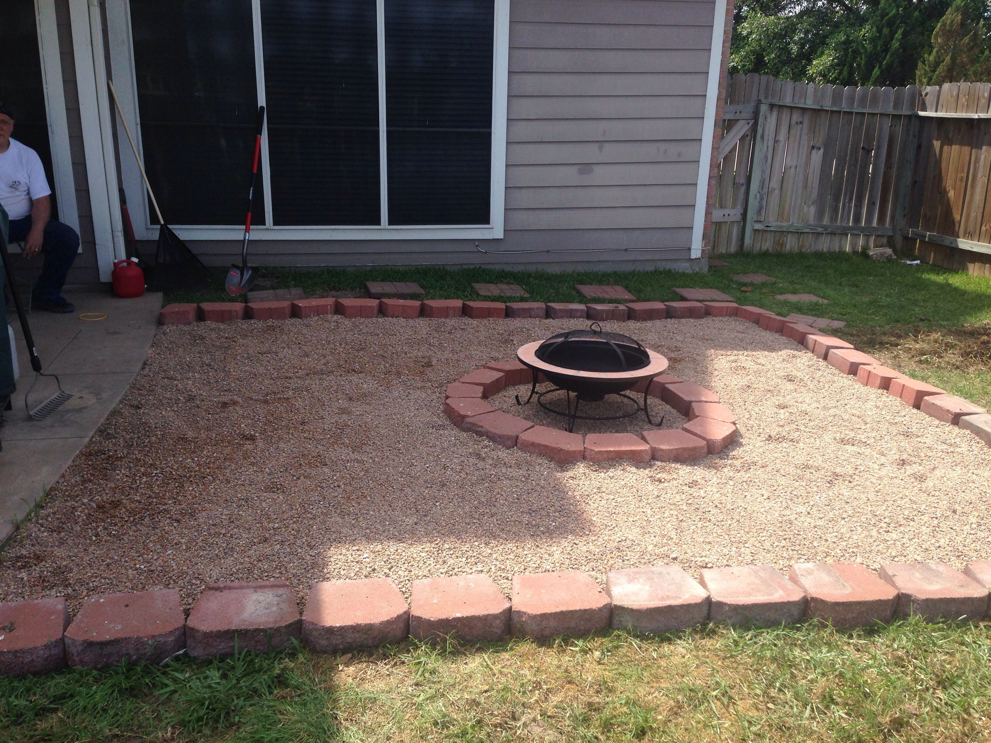 Our Backyard Fire Pit Diy Tilled The Grass, Layer Of