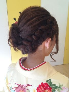 結婚式 和装 髪型~着物に似合うヘアスタイルをご紹介!!-結婚技研 結婚式 髪型 和装 編み込み!フルアップ