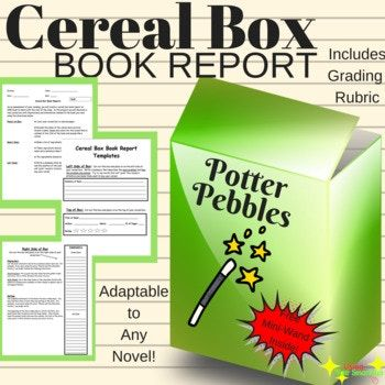 Cereal Box Book Report \ Commercial - cereal box book report template