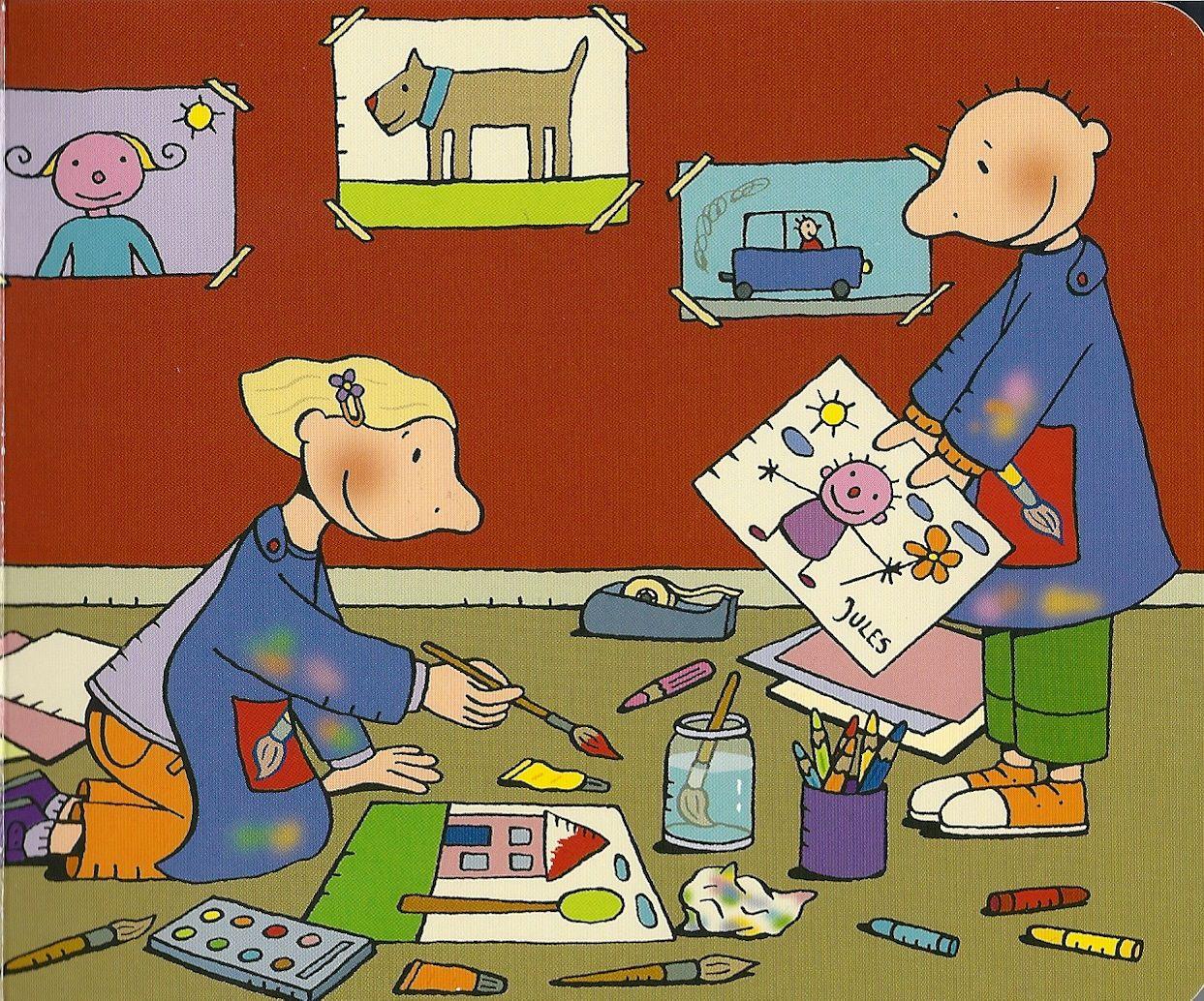 Jules gaat schilderen met zus | Kleur kunst, Kinderkunst, Thema