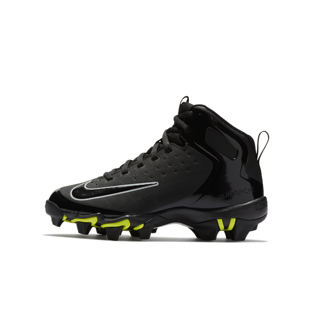 sale retailer ac386 f71ca Nike Alpha Huarache Keystone Mid Little Big Kids  Baseball Cleats Size 1.5Y  (Black)