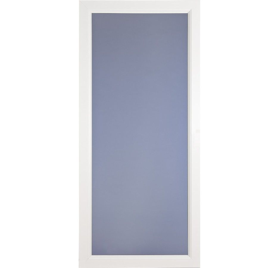 LARSON Signature Selection White Full View Tempered Aluminum Storm Door  (Common: 36