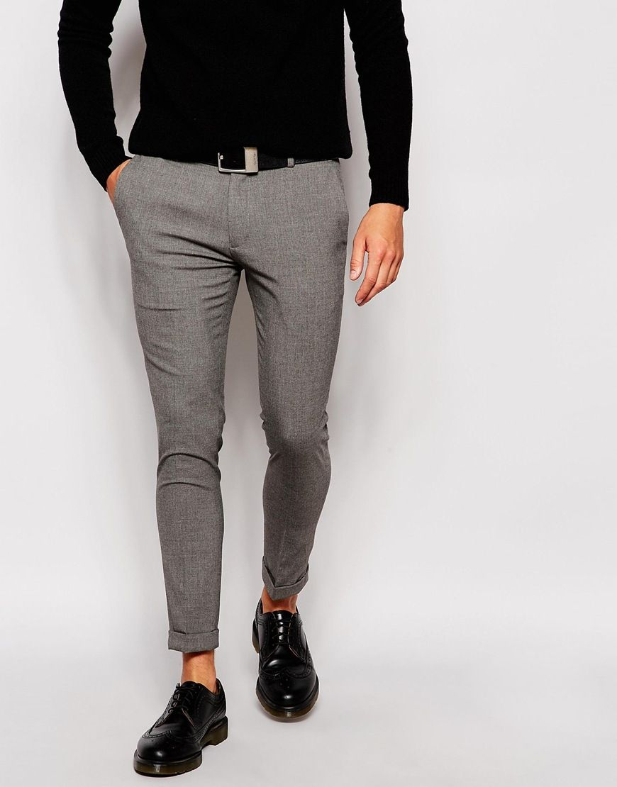 Asos Super Skinny Smart Cropped Trousers Karma Law Of Nature