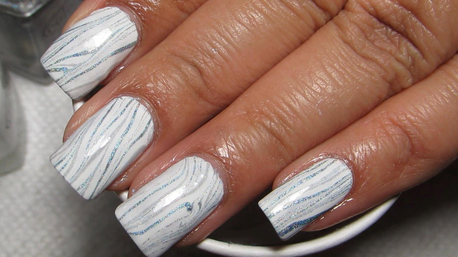 Melting Ice Water Marble Nail Art Tutorial Water Marble March 2014