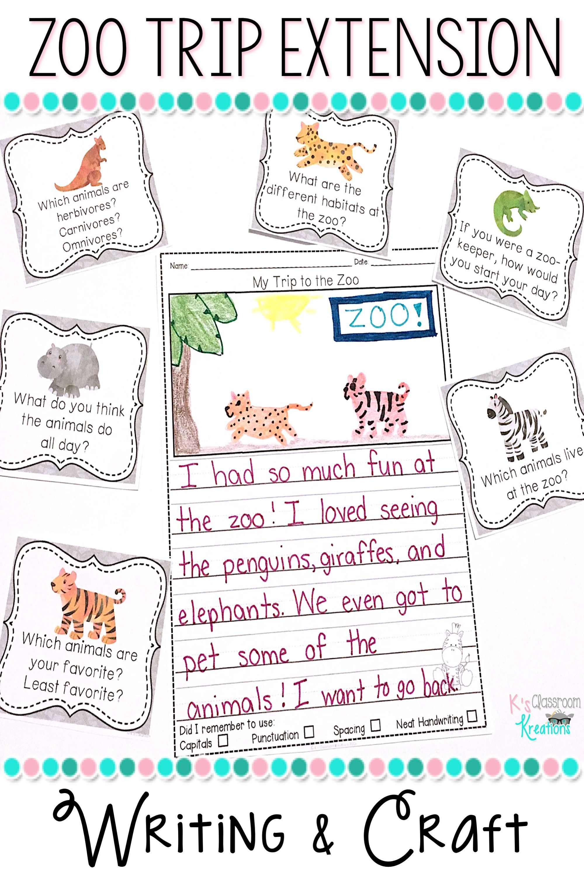 Are You Taking A Trip To The Zoo Either In Real Life Or Virtually Kindergarteners And First Graders Love Learning About Wil Field Trip Travel Activities Trip