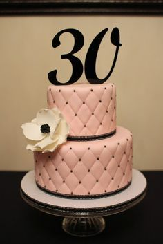 Wondrous 30Th Birthday Cake Ideas For A Woman With Images 30Th Birthday Birthday Cards Printable Riciscafe Filternl