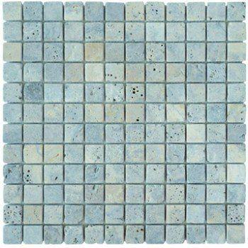 Charmant Mosaïque Sol Et Mur Mineral Travertin Gris | Leroy Merlin