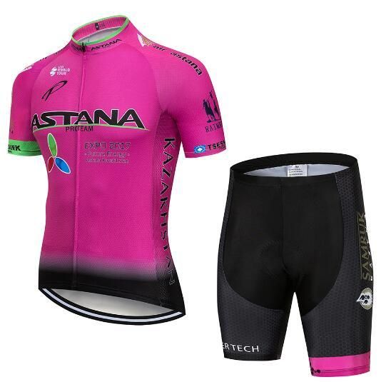 7dedc7914 Team Pro Astana Bike Cycling Jersey Set Summer Breathable Bicycle Jerseys  Clothes Maillot Ropa Ciclismo Cycling