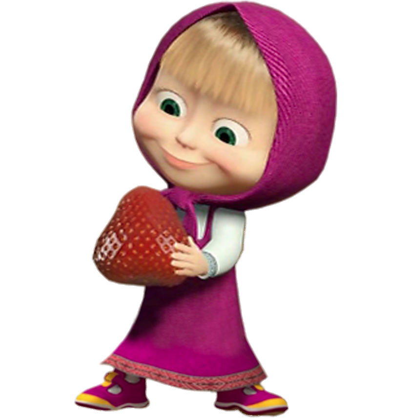 Masha Holding Large Strawberry Strawberry Png Png Images Png