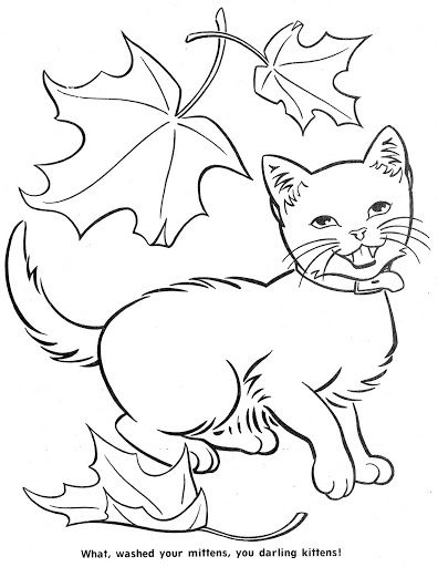 Coloring BookThe Three Little Kittens