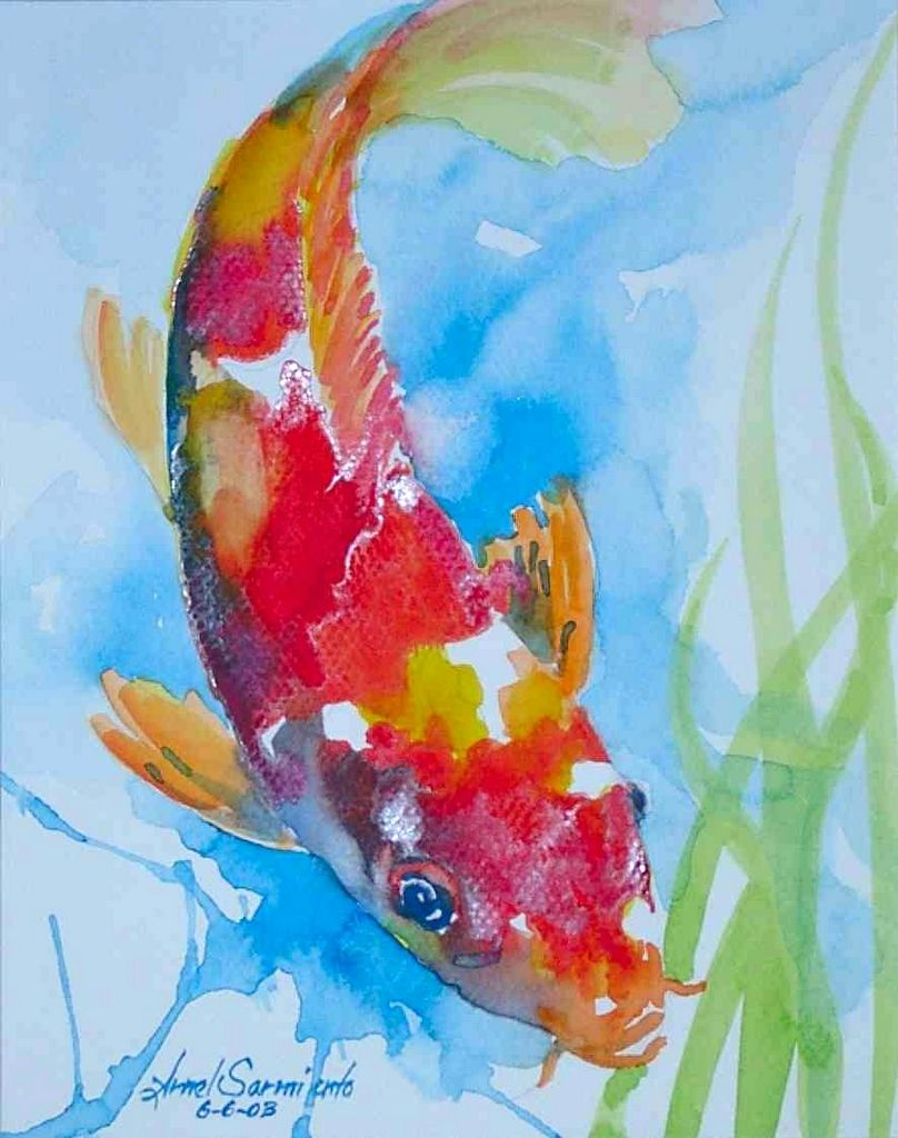 Pin By Helen Luck On Watercolor Koi Painting Watercolor Fish
