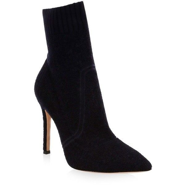 Gianvito Rossi Black Pointed Toe Ankle Boots QazbGXrb