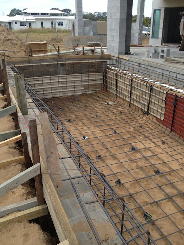 Swimming pool in hervey bay steel construction client for Concrete swimming pool construction