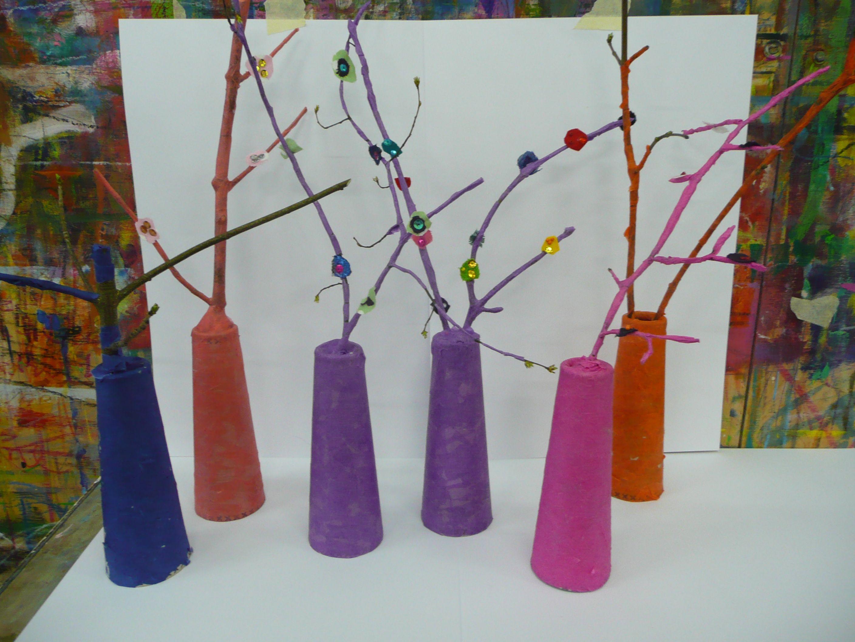 Bunte Bäume Garnrolle, Transparentpapier und Kleister