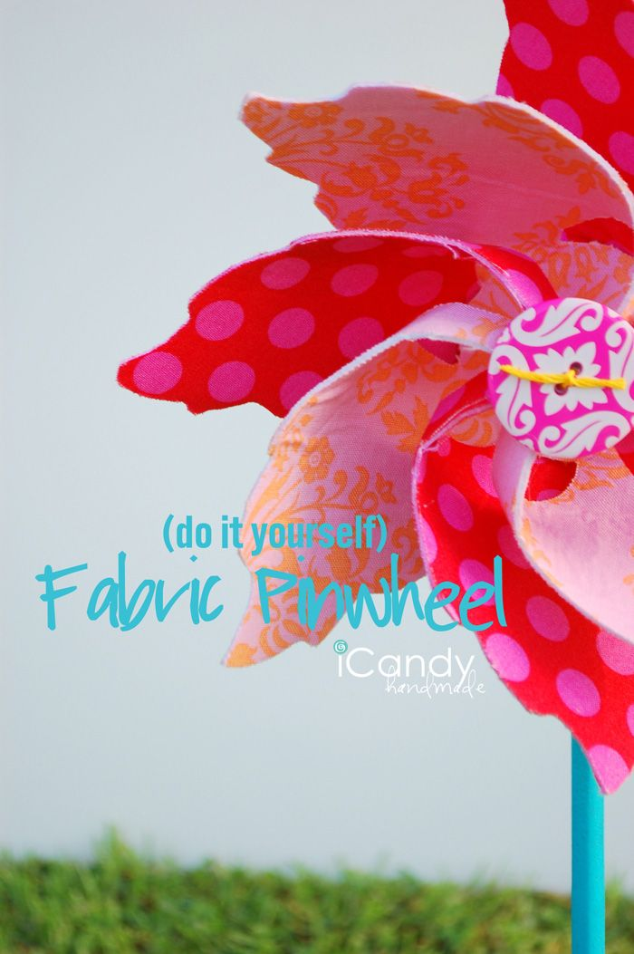 Windrad aus Stoff nähen - pinwheela | Tolle Muster tolle Ideen ...