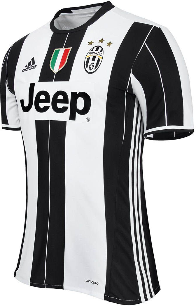 ae6ad8ce9 The new Juventus 16-17 home kit reinterprets the traditional black   white  stripes of the Juventus kit