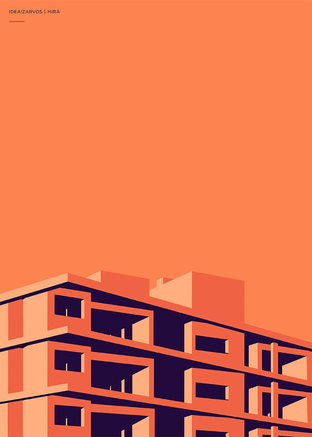 Colorful Architectural Illustrations by Henrique Folster | Inspiration Grid